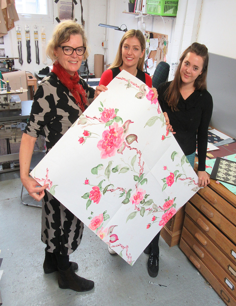 roas weaver and  staff at the Barry Daniels Design Archive