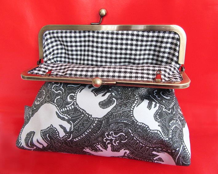 elephant paisley pattern clasp bag