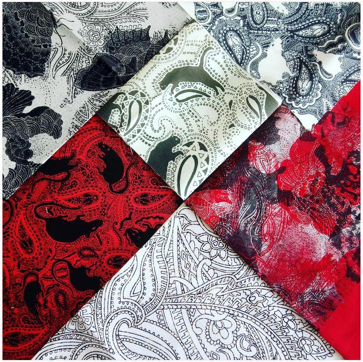 Paisley Power fabrics with animal and paisley prints