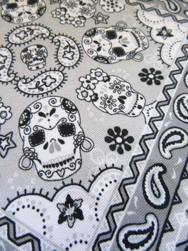 Skull-Mexican-bandana-fabric-designed-by