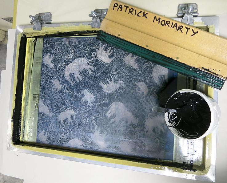 silkscreen printing my elephant pattern