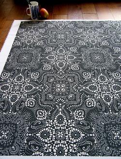 mosaic-bandana-symmetrical-printed-fabric-by-Paisley-Power