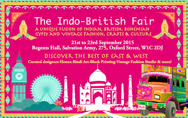 poster for Indo-British Fair 2015 in Oxford Street London