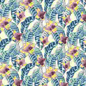 Exciting new tropical textile design by Patrick Moriarty