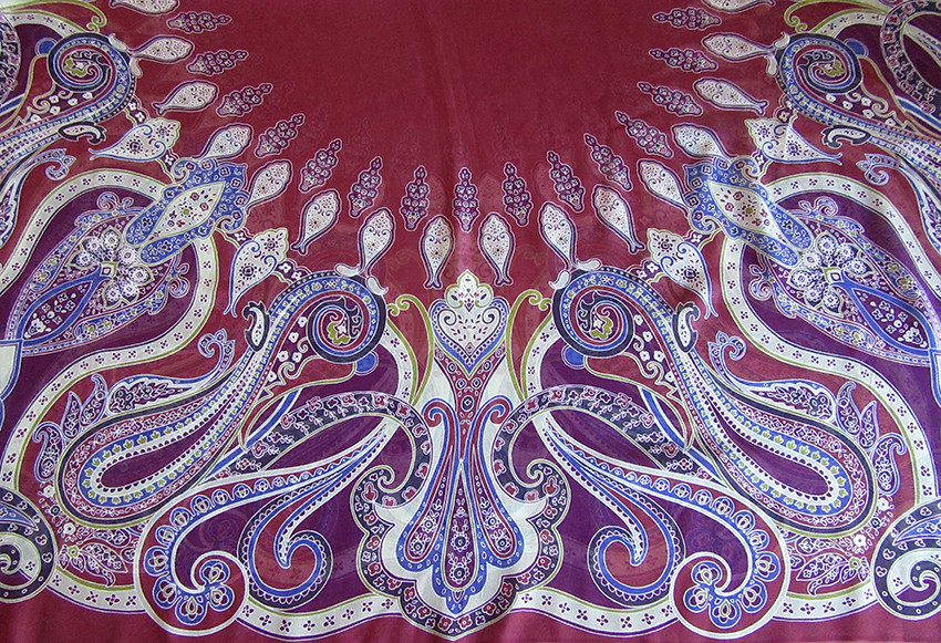 Paisley headscarf for fashion client by Patrick Moriarty