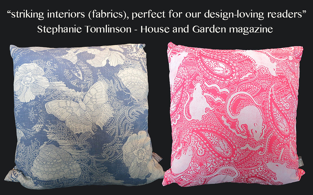 great feedback from House and Garden magazine about my handmade cushions