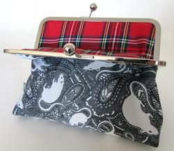 rat clasp bag with tartan lining