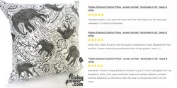 Elephant cushion by Paisley Power and excellent customer reviews