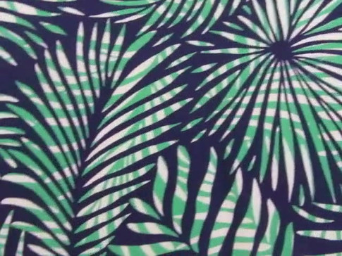 "video of ""Palm Leaf"" fabric designed by Patrick Moriarty"