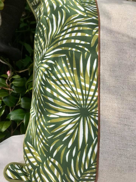 Paisley Power's Palm Leaf fabric used expertly by the Parchment and Purl brand