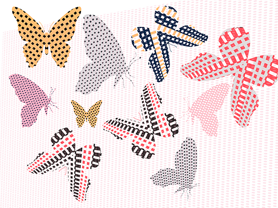 butterfly-shapes-with-textures