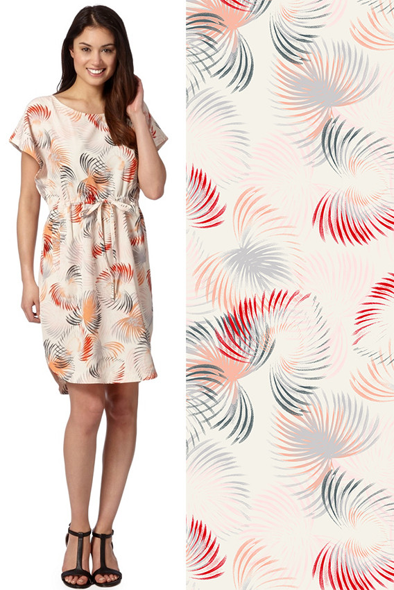 palm leaf fashion print by Patrick Moriarty for the UK retailer Wallis