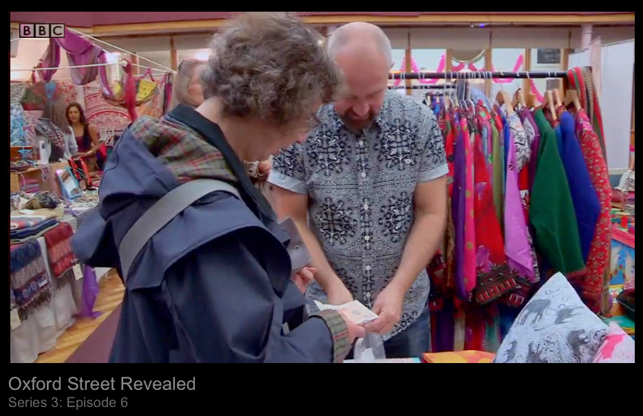 Designer Patrick Moriarty on BBC1 series Oxford Street Revealed