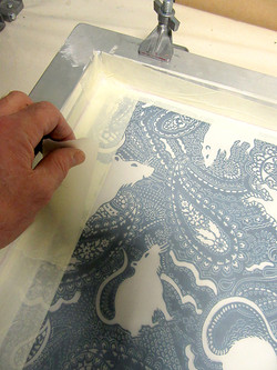masking the screen for screen-printing a rat design by Paisley Power.jpg