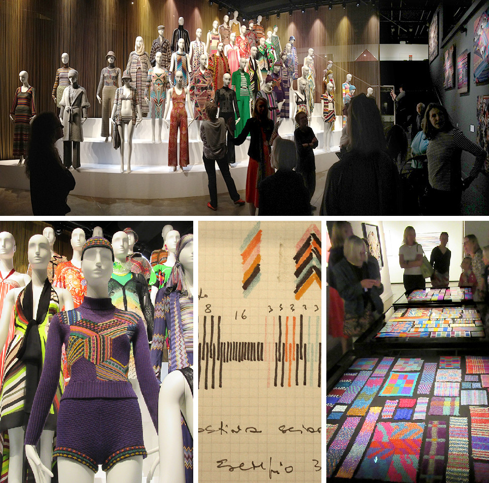 Italian fashion brand Missoni's exhibition in London