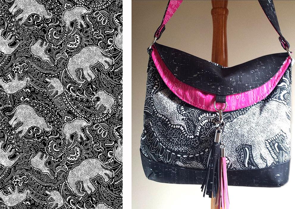 black-elephant-bag-by-designer-Lisa-Wilkinson-from-new-york