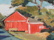 Barn on Hill and Dale o/c 8x10