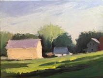 The Gates Barn, Tewksbury o/c 8x10