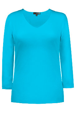 Judy P - RELAXED FIT V-NECK 3/4 SLEEVE