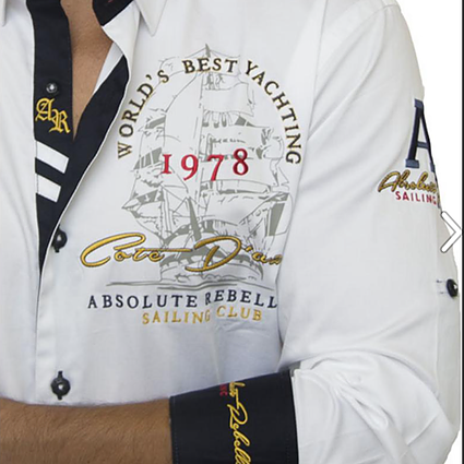 AR Embroidered Shirts - COMMANDANTE