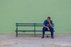 Contemplating in Havana