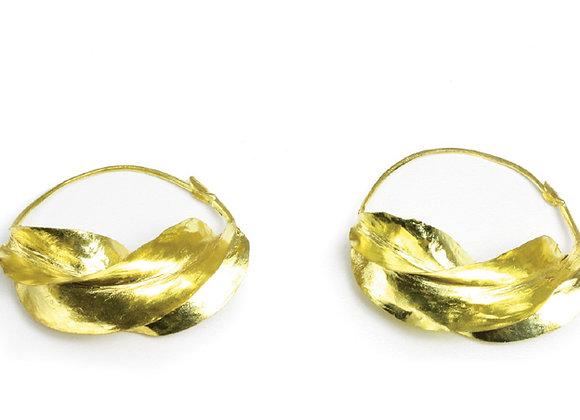 "X-Large Fula Gold Earrings - 1¾"""