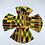Thumbnail: 2 Reusable African Kente Print Face Masks