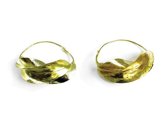 "Over-Sized Fula Gold Earrings - 2¾"""