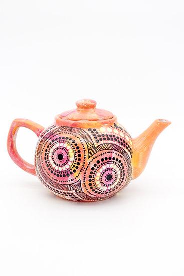 Yirawulin 'Sunset' Aboriginal Hand Painted Teapot