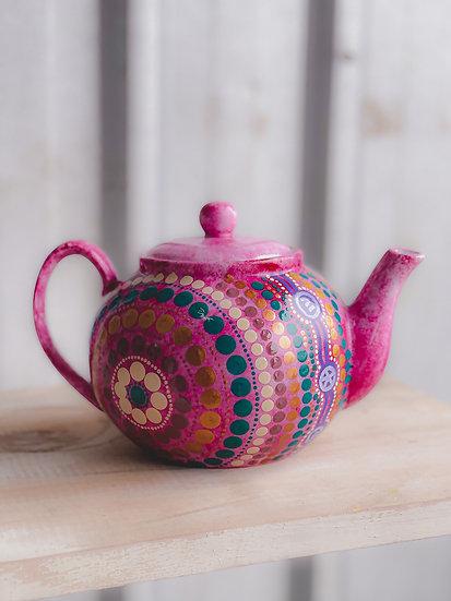 Mirrul 'Paint' Aboriginal Hand Painted Teapot