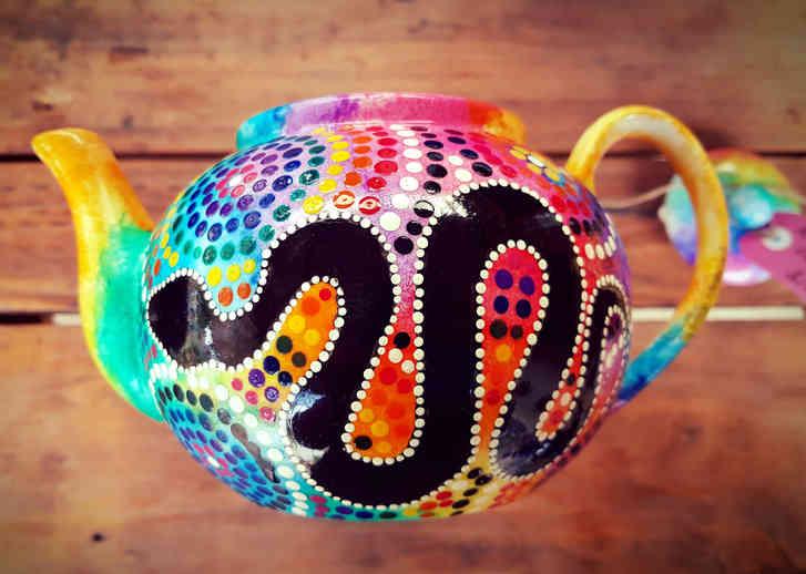 Rainbow Serpent Teapot