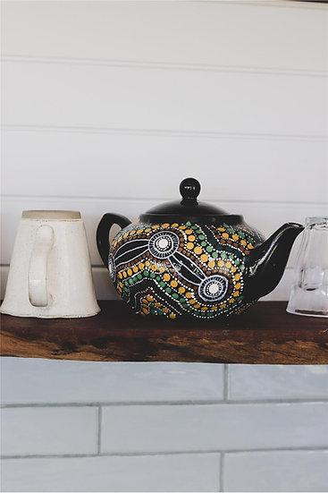 Mawang 'Altogether' Aboriginal Hand Painted Teapot
