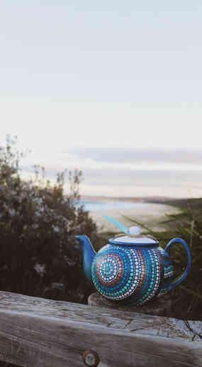 Teal Duck Teapot by Little Black Duck Au