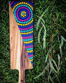 Multicoloured Dhangaang Serving Board