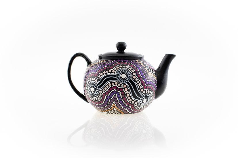 Yiing 'Happiness' Aboriginal Hand Painted Teapot