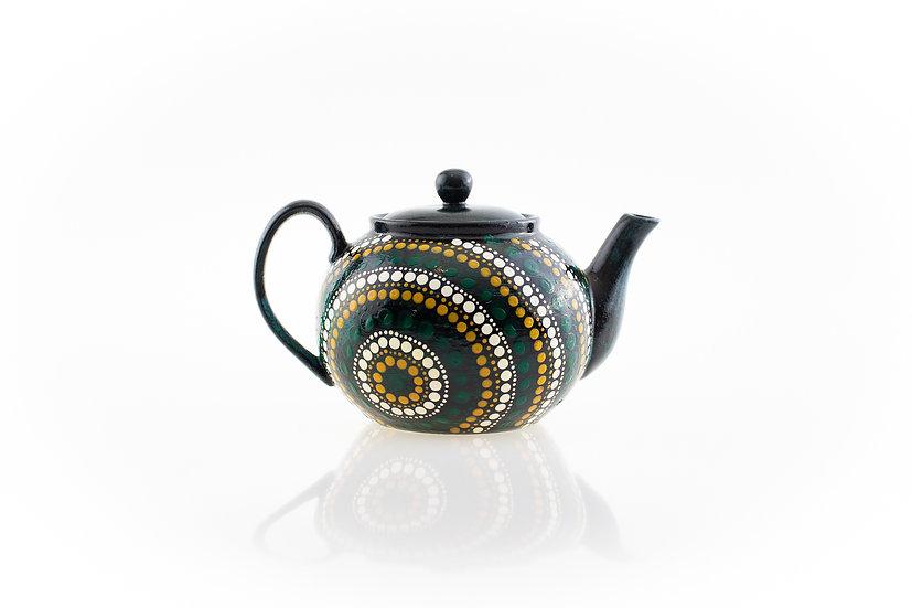 Nguram-bang 'Country' Aboriginal Hand Painted Teapot