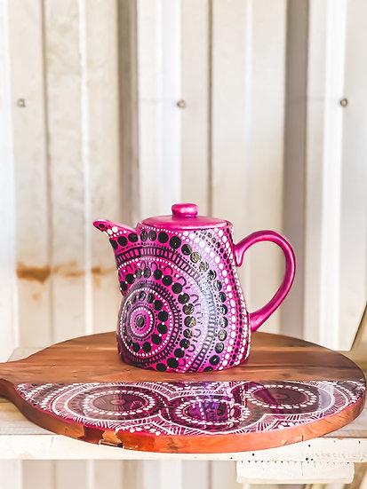 'Tidda' Aboriginal Hand Painted Teapot