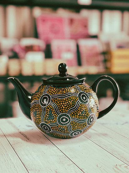 Nandhu 'Meet' Aboriginal Hand Painted Teapot