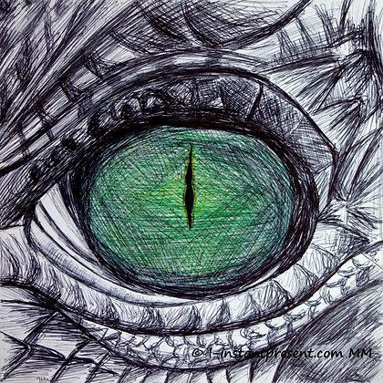 Oeil reptilien