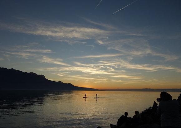 Carte lac Léman, Suisse