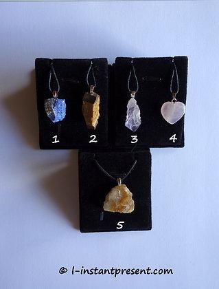 Pendentifs pierres semi-précieuses