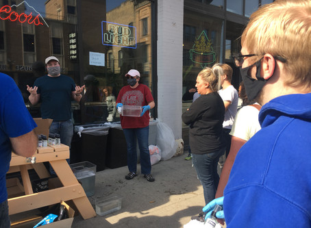 Zach Raknerud attends Downtown Fargo Clean Up