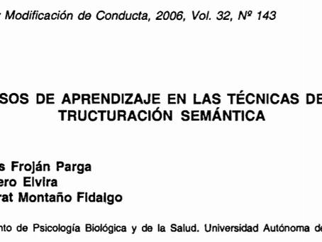 Procesos de aprendizaje en las técnicas de reestructuración semántica.