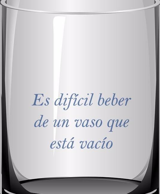 Es difícil beber de un vaso que está vacío [Terapia Integral de Pareja TIP]