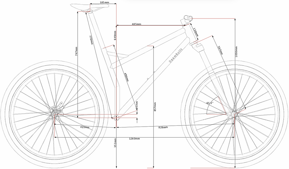 "29"" Full Suspension Mountain Bike - Geometry"