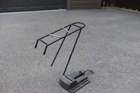 Minimalist bikepacking rear rack