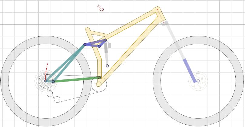 """29"""" Full Suspension Mountain Bike - Linkage Layout"""