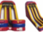 Toboggan jeux double slide