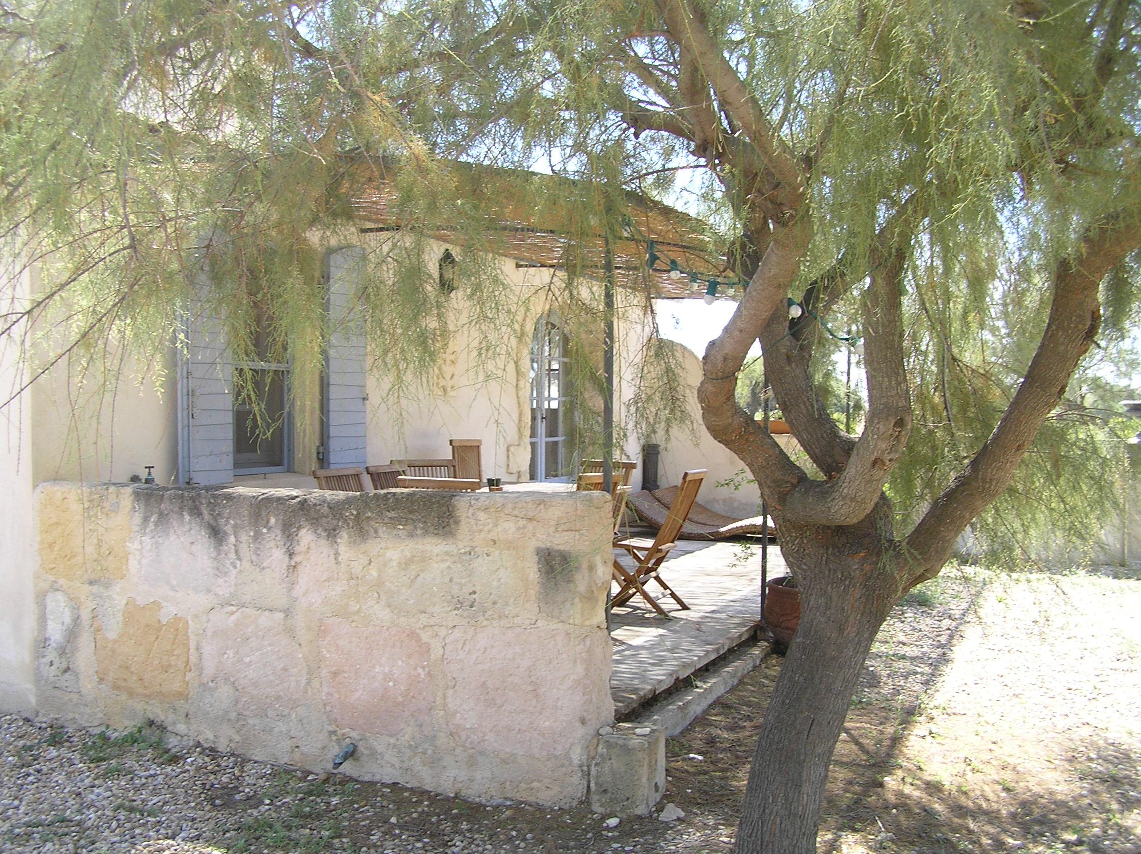 terrasse privative du Gite