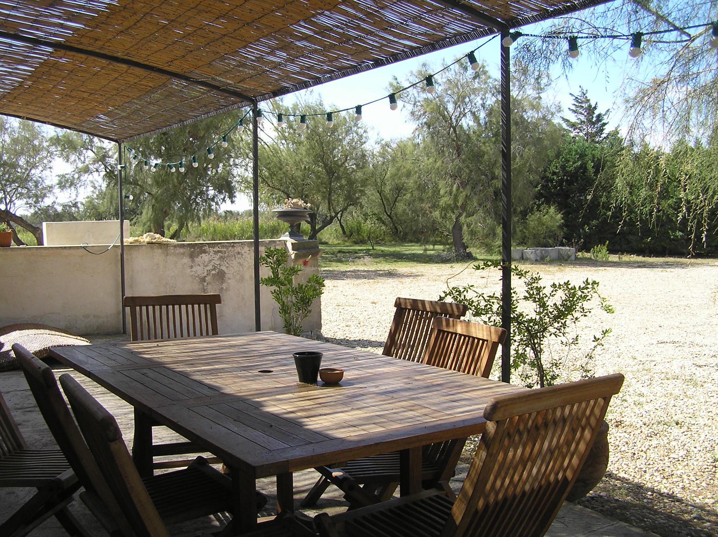 La Camargue devant la terrasse
